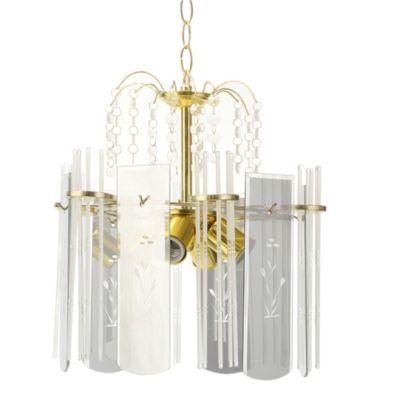 Lámpara colgante Biombo 4 luces