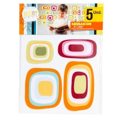 Mosaico a color abstracto