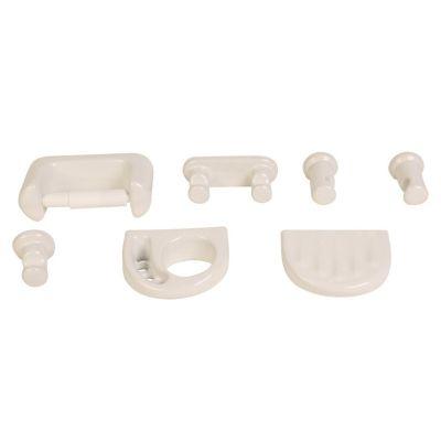 Kit de 5 accesorios de loza blanco