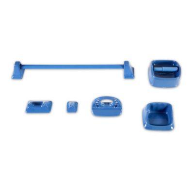 Kit de 5 accesorios de loza azul