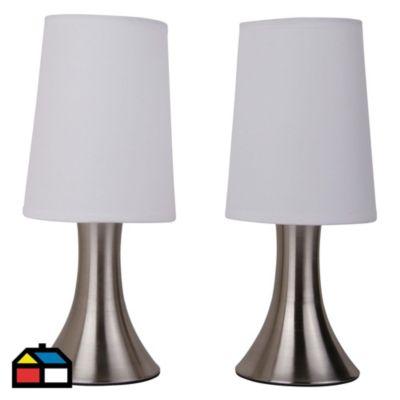 Set x 2 lámparas de mesa 1 luz