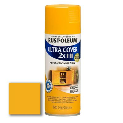Aerosol Multiusos Ultra Cover 2x Amarillo Oro Brillante 340 Gr