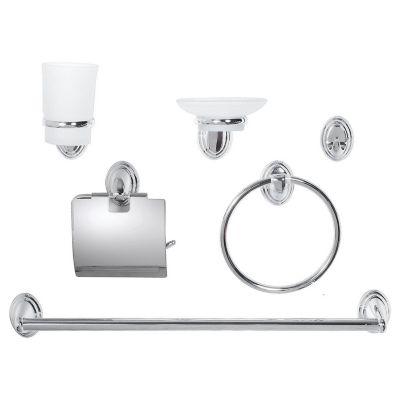 Set de accesorios para baño 6 piezas Turin