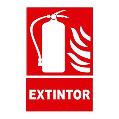 Señal extintor 22.5x15 cm