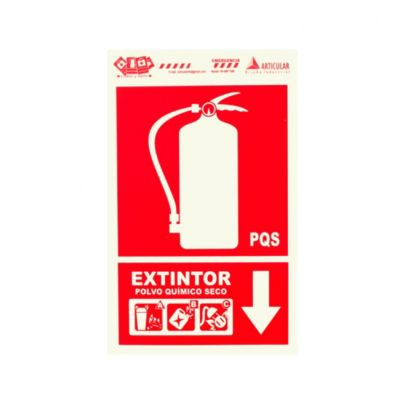 Señal extintor multipropósito 22.5x15 cm