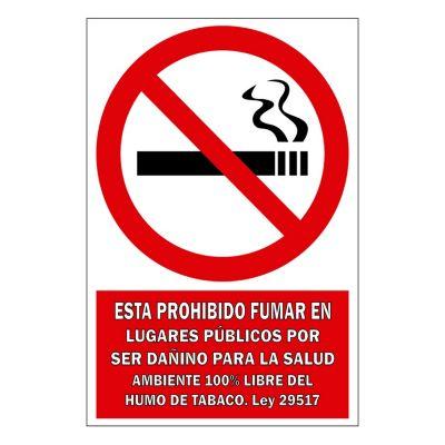 Señal prohibido fumar 22.5x15 cm