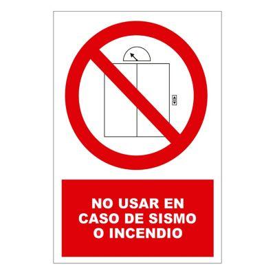 Señal no usar en caso de sismo