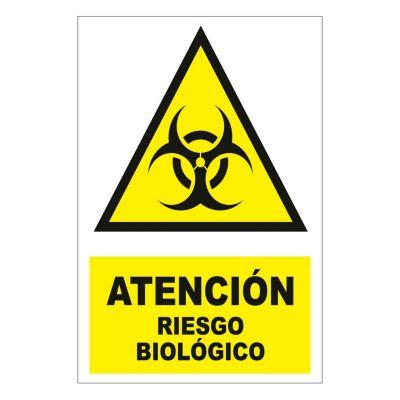 Señal atención riesgo biológi22.5x15 cm