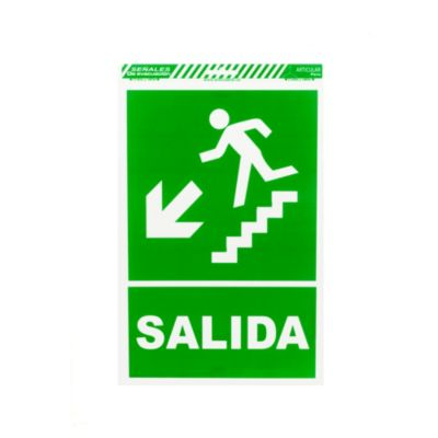 Señal escalera abajo izquierda
