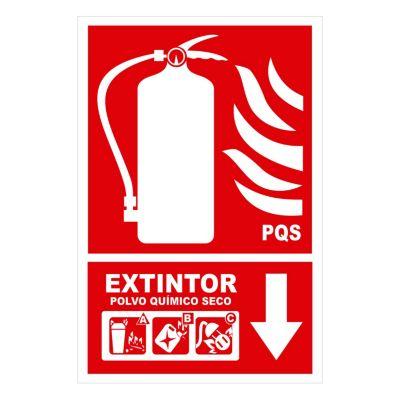 Señal extintor multipropósito 30x20 cm