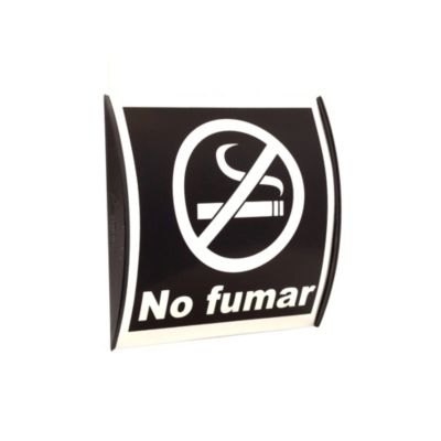 Señal no fumar 15x15 cm