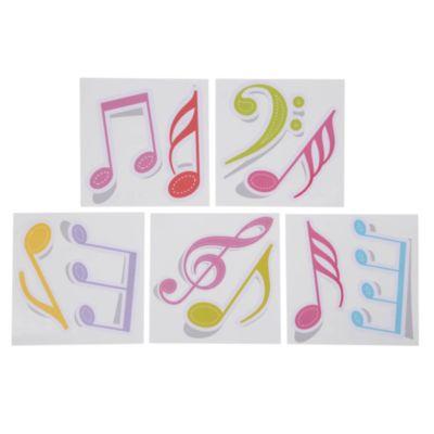Mosaico multicolor autoadhesivo Notas musicales