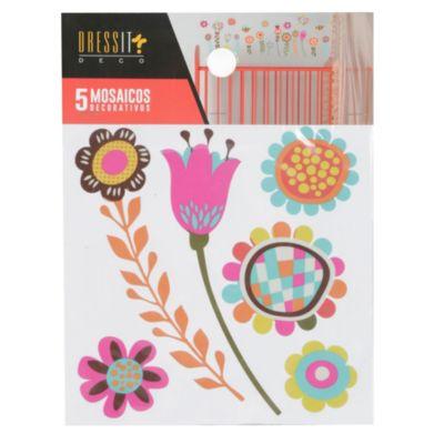 Mosaico a color flores