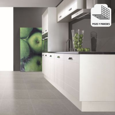 Porcelanato Cemento Gris Rústico 60x60 cm para piso o pared