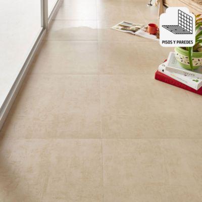 Porcelanato Cemento Beige Rústico 60x60 cm para piso o pared