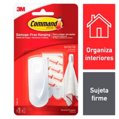 Command Sujetador con Resorte Mediano Blanco