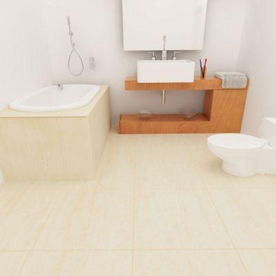 Porcelanato Sin Sellar Beige Marmolizado 60x60 cm para piso o pared