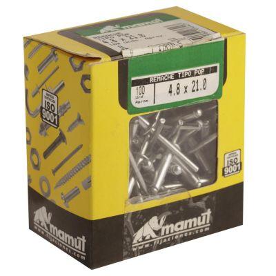 Remache alm t/pop 4.0x21 100und 12RTP-P