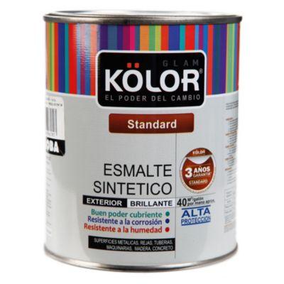 Esmalte sintético Estándar caoba 1/4 gl