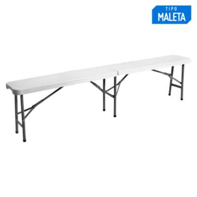 Mesa plegable 180 x 28 cm Blanco