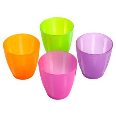 Set 4 vasos colores
