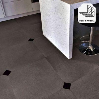 Porcelanato Cemento Wenge Marrón Rústico 60x60 cm para piso o pared