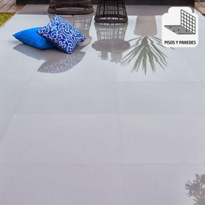 Porcelanato Steel Gris Liso 60x60 cm para piso o pared