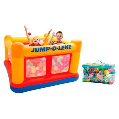 Combo Juego Inflable Jump o Lene + Caja de 100 pelotitas de colores