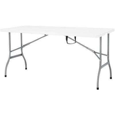Mesa plegable 152 x 76 cm Blanco