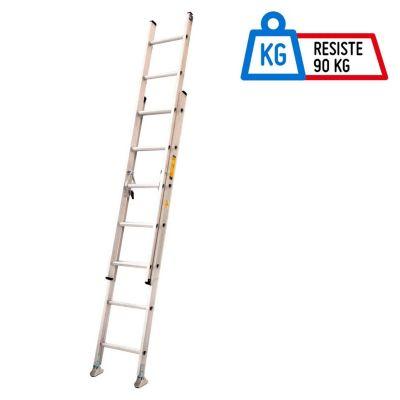 Escalera Telescópica Aluminio 14 Pasos