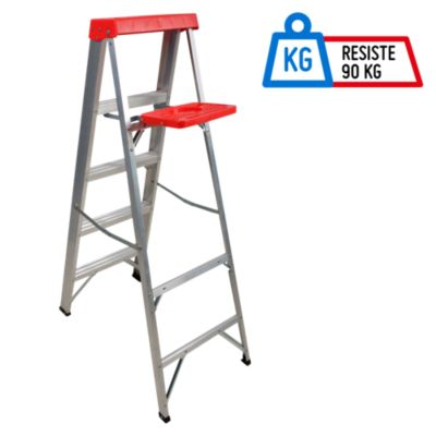 Escalera Tijera Aluminio 4 Pasos