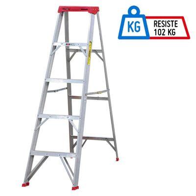 Escalera Tijera Aluminio 5 Pasos