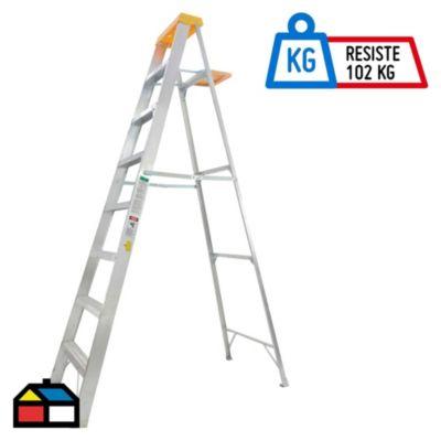 Escalera Tijera Aluminio 7 Pasos