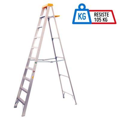 Escalera Tijera 9 Pasos Aluminio