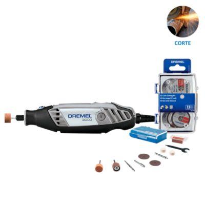 Dremel 3000 + 10 Accesorios + Kit 11 accesorios corte EZ Lock