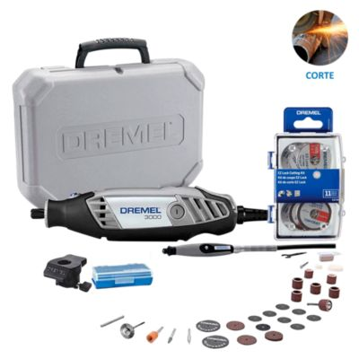 Dremel 3000 + 30 Accesorios + Kit 11 accesorios corte EZ Lock