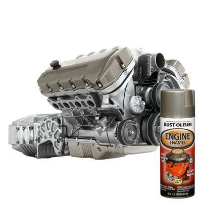 Pintura para motores Aluminio Brillante 312Gr.