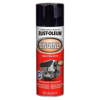 Pintura para motores Negro Brillante 312Gr.