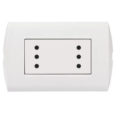 Tomacorriente Doble 3 Puntos Modus Style Blanco