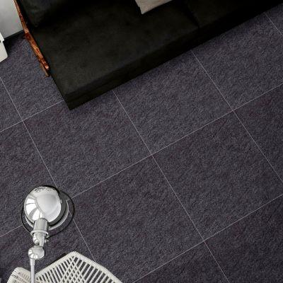 Gres Porcelánico Negro Rústico 60x60cm para piso o pared