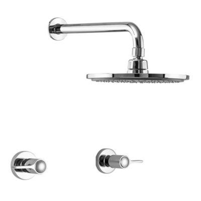 Mezcladora de ducha + Salida Line 8''