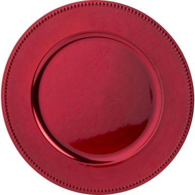 Plato decorativo redondo 33cm Rojo