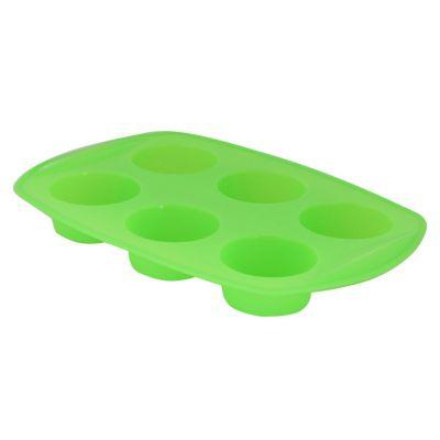 Molde de silicona para 6 muffin