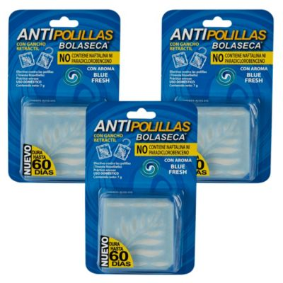 Pack Antipolilla Blue Fresh x 3 Unidades