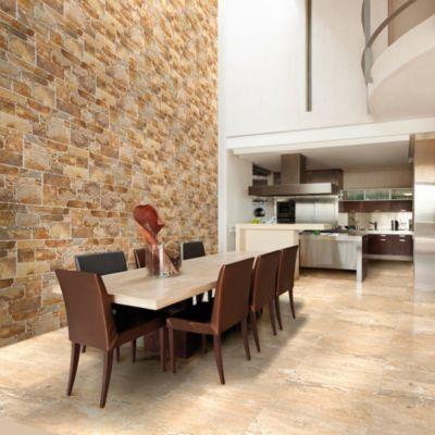 Cerámica Laja Zen Marron Fachaleta 27x45cm para piso o pared