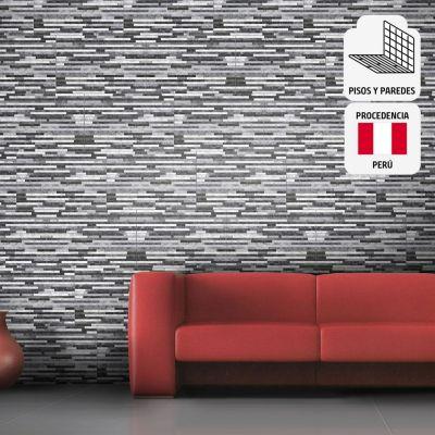 Cerámica Harmory Gris Con Relieve 27x45cm para piso o pared