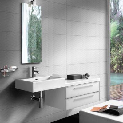 Cerámica Opera Blanco Textil 27x45cm para pared