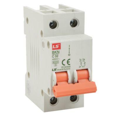 Interruptor Tipo Riel Bifásico 32A