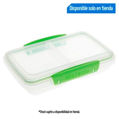 Taper rectangular con división 350ml