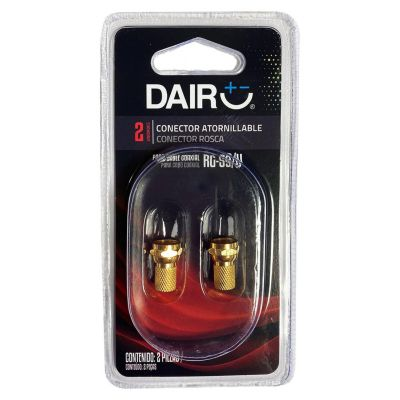 Conector Atornillable RG59 Dorado